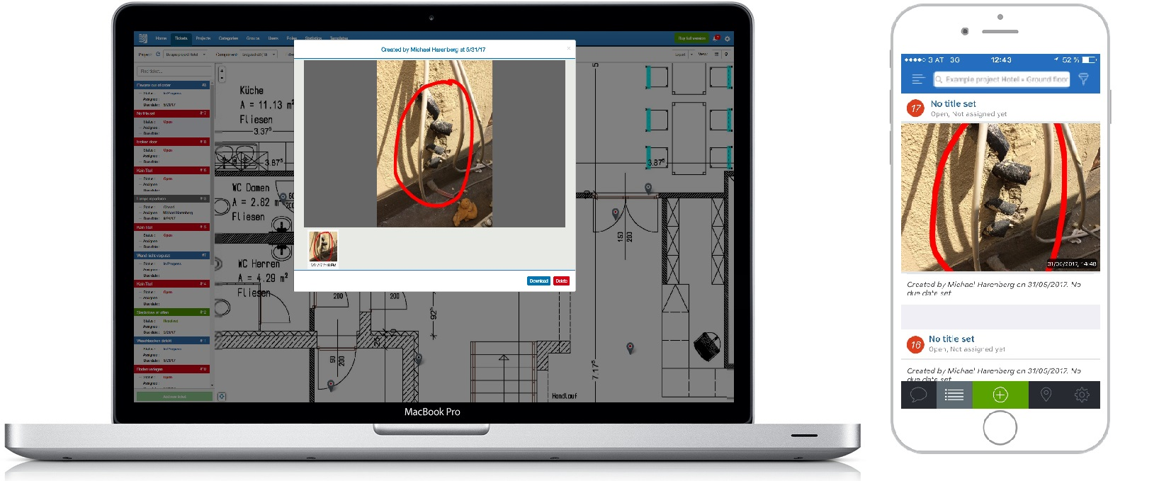 PlanRadar construction tracking software