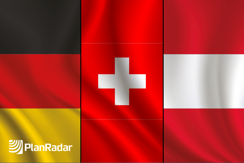 The Flags of Germany, Switzerland and Austria