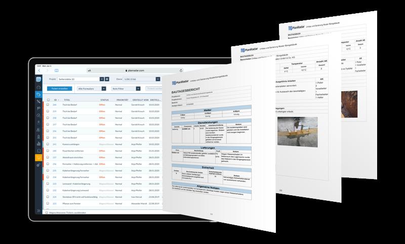 Bautagebuch und Bautagesberichte